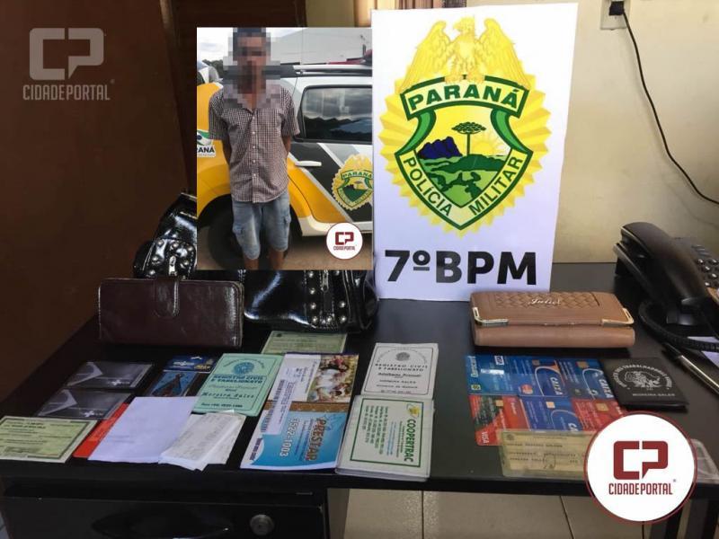 Uma pessoa foi presa pela Polícia Militar de Moreira Sales logo após roubo