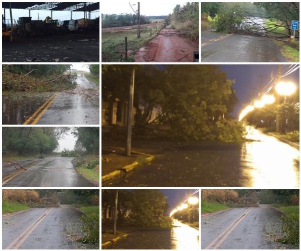 Temporal na madrugada assusta moradores de Moreira Sales - Veja as imagens do estrago