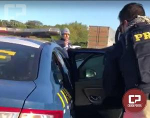Após fuga da PRF assaltantes capotam com veículo furtado em Moreira Sales