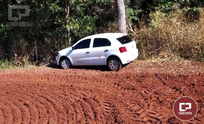 Um dos veículos furtados da Emater foi recuperado pela Polícia Militar após denúncia de moradores