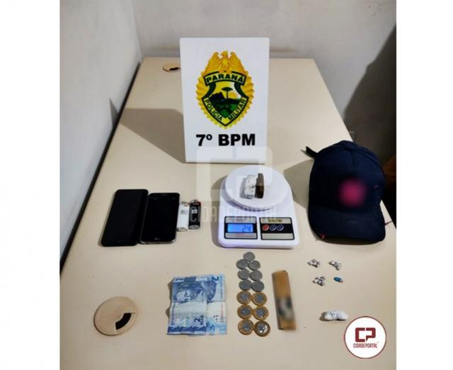 Equipe ROTAM apreende drogas sendo comercializadas no Distrito de Paraná do Oeste