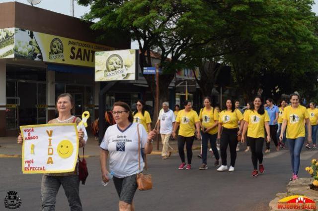 Setembro Amarelo: Secretaria de Saúde de Moreira Sales realiza caminhada contra o suicídio