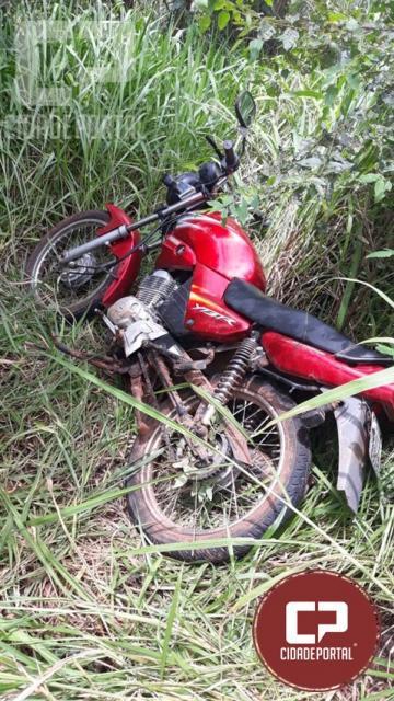 Motocicleta furtada é recuperada pela Polícia Militar em Moreira Sales