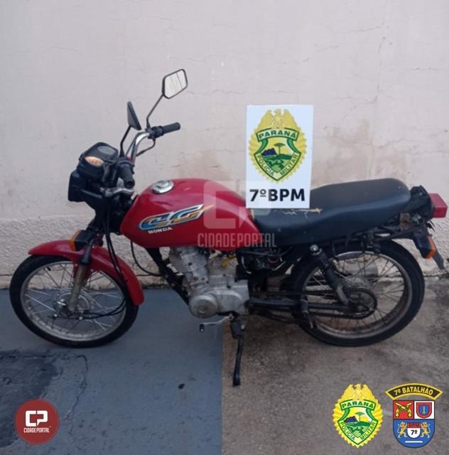 Polícia Militar recupera motocicleta furtada em Moreira Sales e prende duas pessoas