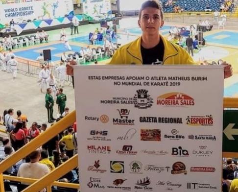 Karateca de Moreira Sales ganha medalha de bronze no Campeonato Mundial