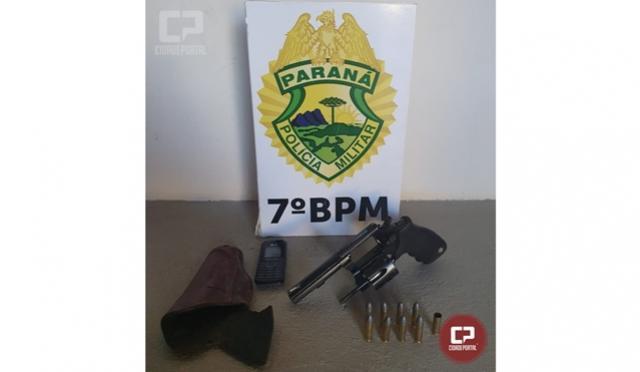 Polícia Militar apreende arma de fogo e encaminha suspeito de cometer crime de homicídio em Moreira Sales