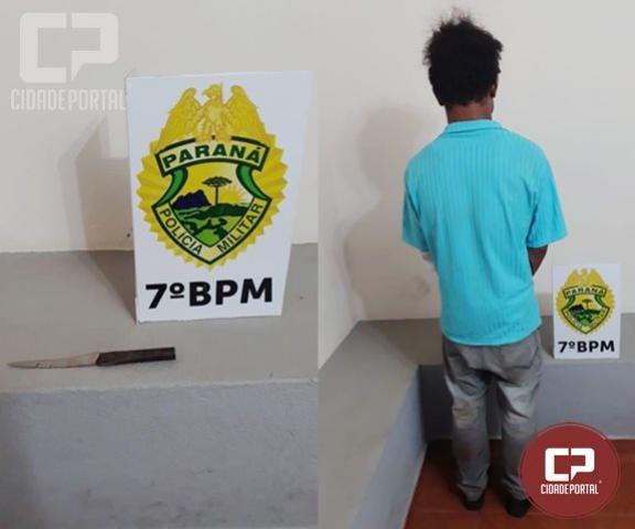Uma pessoa foi presa após esfaquear ex-amásia em Moreira Sales