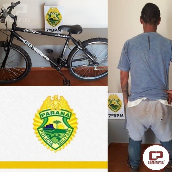 Polícia Militar de Moreira Sales recupera bicicleta furtada e prende autor do furto