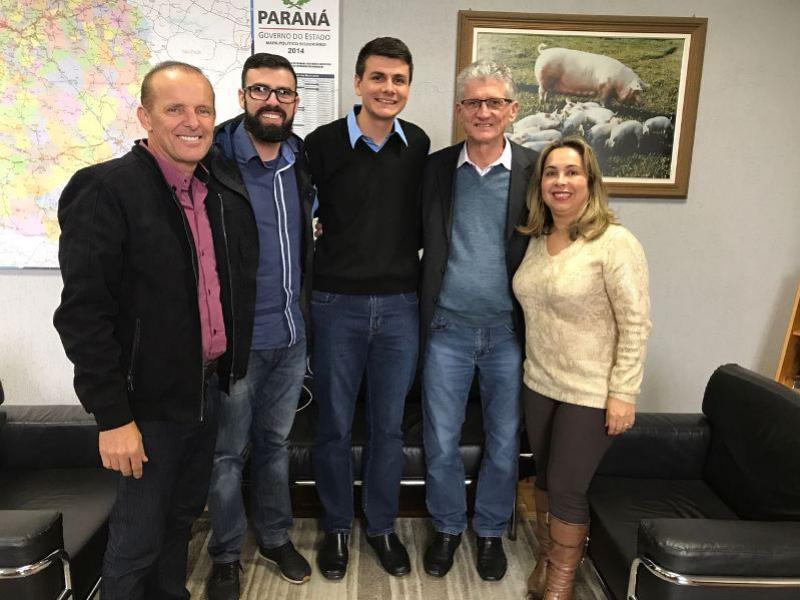 Prefeito Rafael Bolacha se reúne com o secretário de Agricultura Norberto Ortiguara em Curitiba