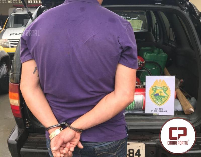 Bandido em Ubiratã não se cria, É a frase mais falada na cidade, após prisão do ladrão de extintores