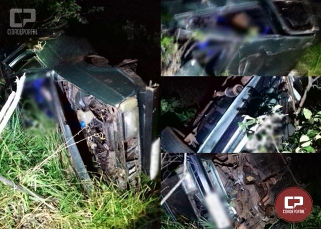 Duas pessoas perdem a vida em acidente na PR-468 em Moreira Sales