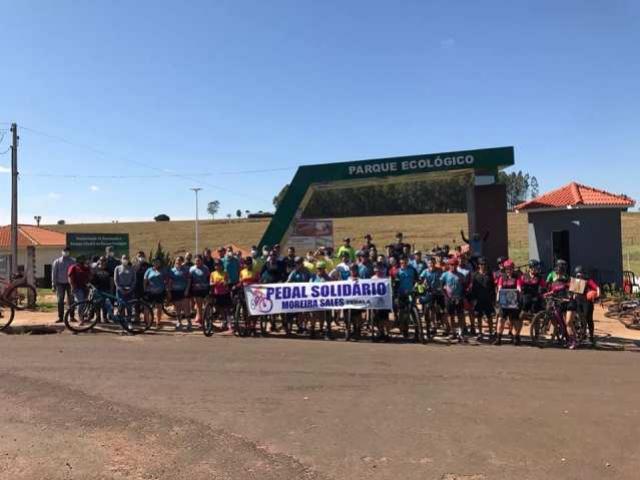 Pedal Solidário foi sucesso em Moreira Sales